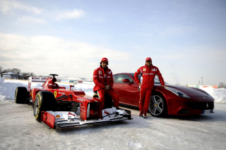 Free Fernando Alonso in Ferrari Picture for Android, iPhone and iPad