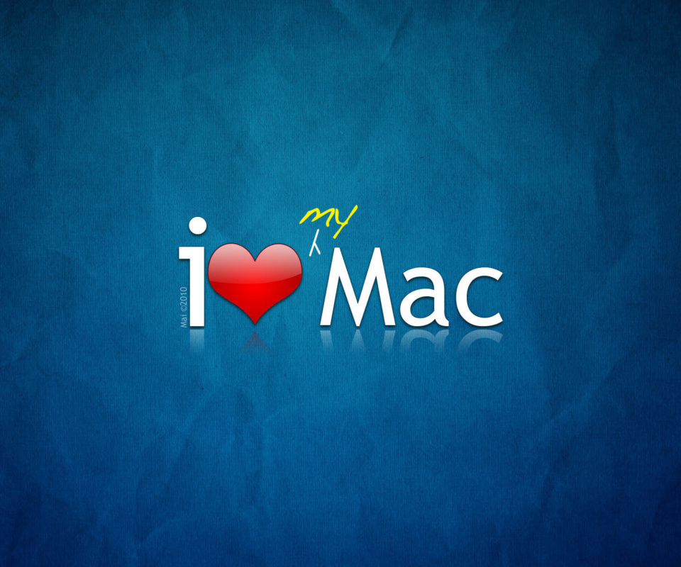 I love Mac wallpaper 960x800