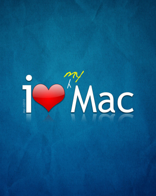 I love Mac Background for 480x800