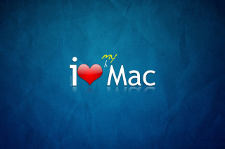 I love Mac Background for 480x400