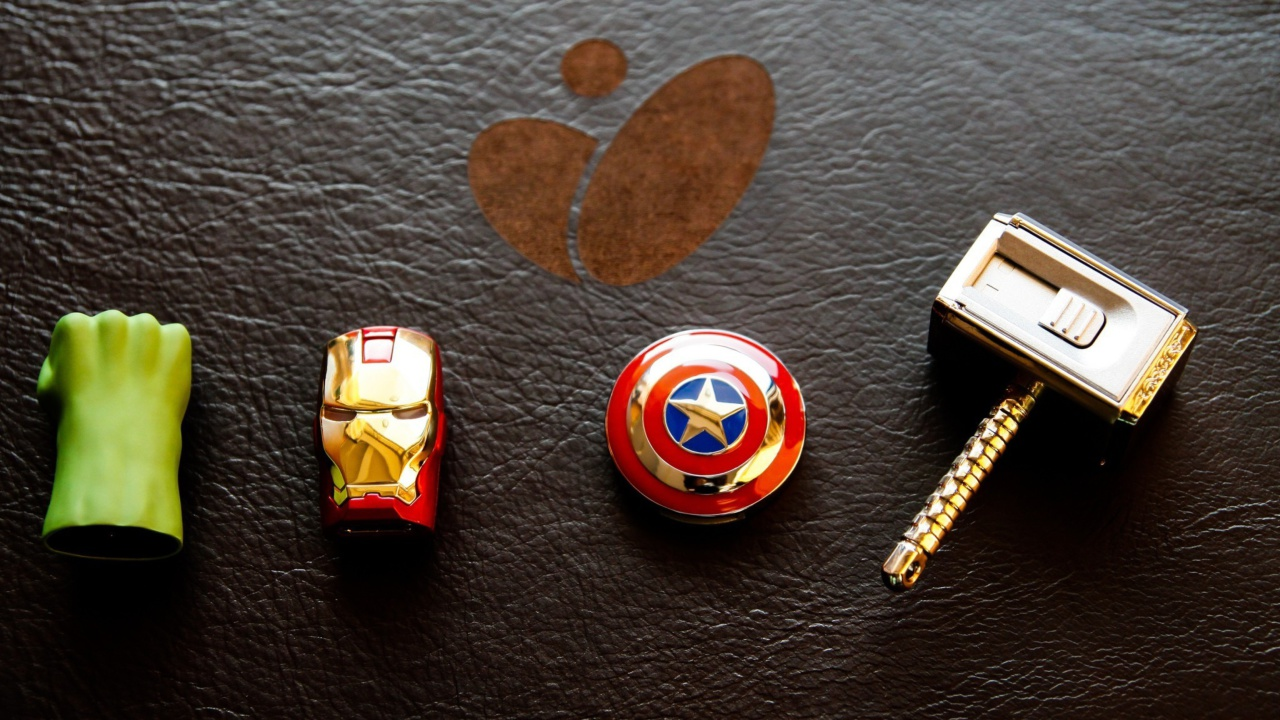 Fondo de pantalla Avengers USB Flash Drives 1280x720