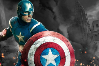 Captain America - The Avengers 2012 Picture for Android, iPhone and iPad