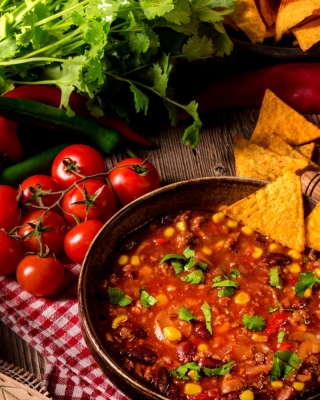 Chilli Mexican Carne Wallpaper for Nokia Asha 306