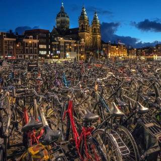 Free Amsterdam Bike Parking Picture for 208x208