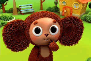 Russian cartoon Cheburashka Background for Android, iPhone and iPad