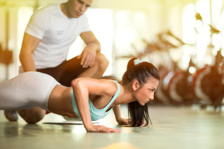 Pushups as fitness and workout - Fondos de pantalla gratis