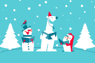 Kostenloses Christmas Cartoon Wallpaper für Android, iPhone und iPad