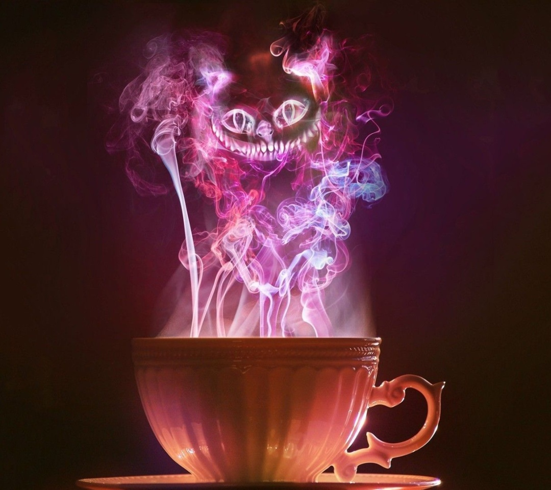 Screenshot №1 pro téma Cheshire Cat Mystical Smoke 1080x960