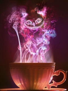 Screenshot №1 pro téma Cheshire Cat Mystical Smoke 240x320