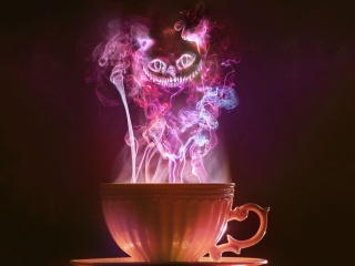 Screenshot №1 pro téma Cheshire Cat Mystical Smoke 320x240