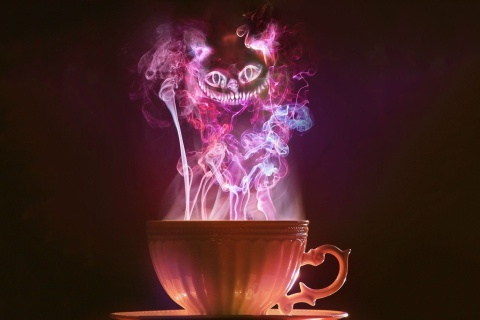 Cheshire Cat Mystical Smoke wallpaper 480x320