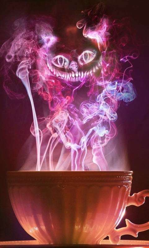 Screenshot №1 pro téma Cheshire Cat Mystical Smoke 480x800
