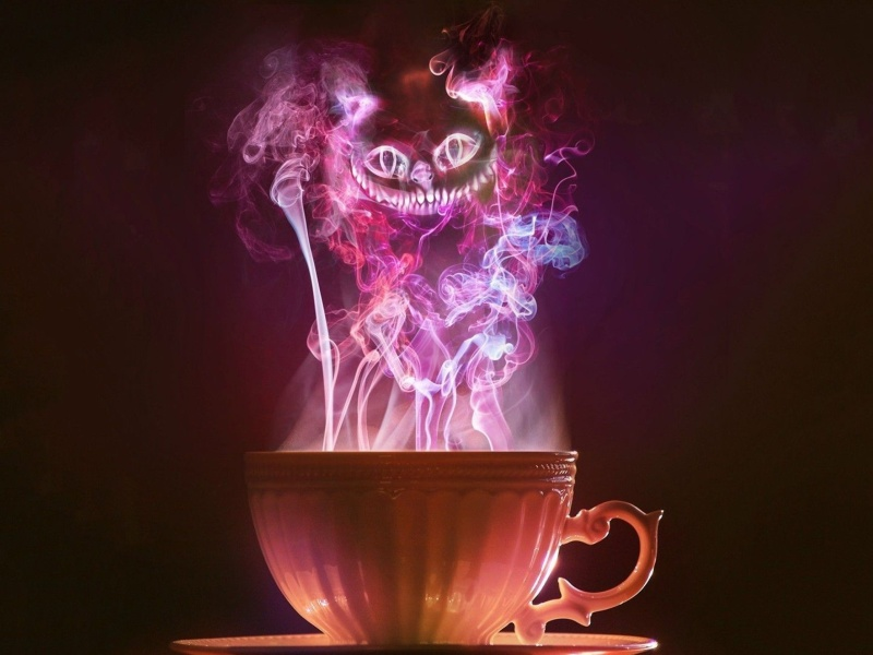Screenshot №1 pro téma Cheshire Cat Mystical Smoke 800x600