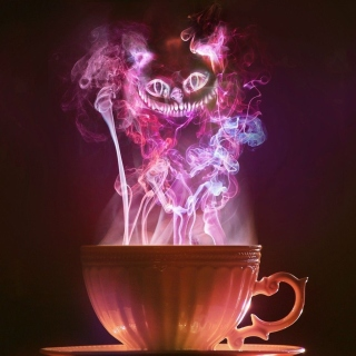 Cheshire Cat Mystical Smoke sfondi gratuiti per iPad Air