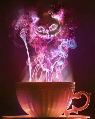 Cheshire Cat Mystical Smoke sfondi gratuiti per 320x480