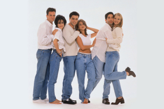 Comedy sitcom Friends with Matthew Perry, Jennifer Aniston and David Schwimmer Wallpaper for Android, iPhone and iPad