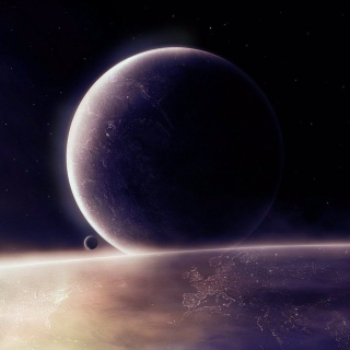 Moon in space - Fondos de pantalla gratis para 1024x1024