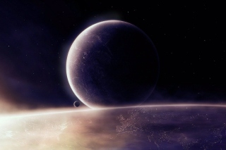 Moon in space - Fondos de pantalla gratis
