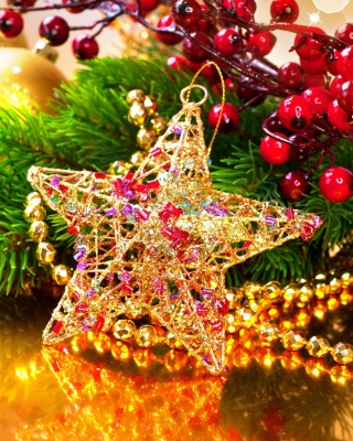 Golden Star Wallpaper for Nokia 5800 XpressMusic