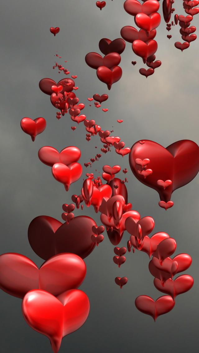 Картинка с сердечками на телефон, приколы