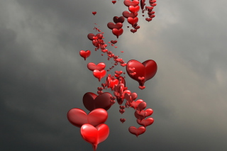 Red Spiral Of Hearts - Fondos de pantalla gratis