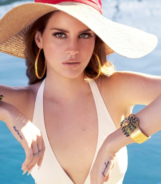 Lana Del Rey In Pool Wallpaper for Nokia C1-01