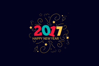 New Year 2017 Background for Android, iPhone and iPad