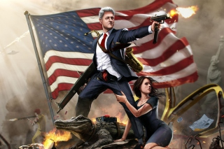 United States Bill Clinton Background for Android, iPhone and iPad