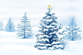 Xmas Tree Wallpaper for Android, iPhone and iPad