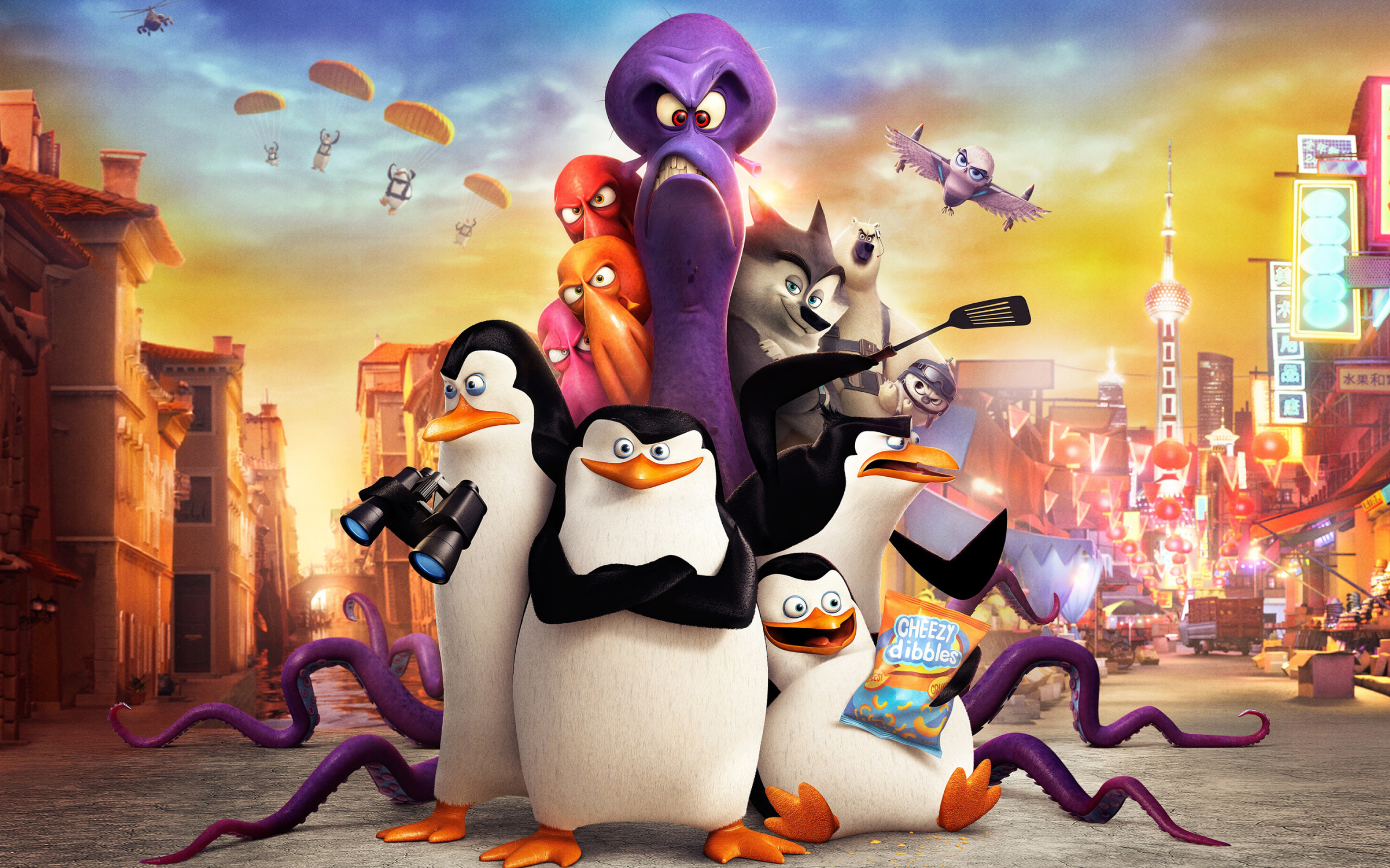 Screenshot №1 pro téma The Penguins of Madagascar 2014 2560x1600