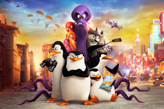 The Penguins of Madagascar 2014 - Obrázkek zdarma pro Widescreen Desktop PC 1600x900