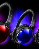Colorful Headphones wallpaper 128x160