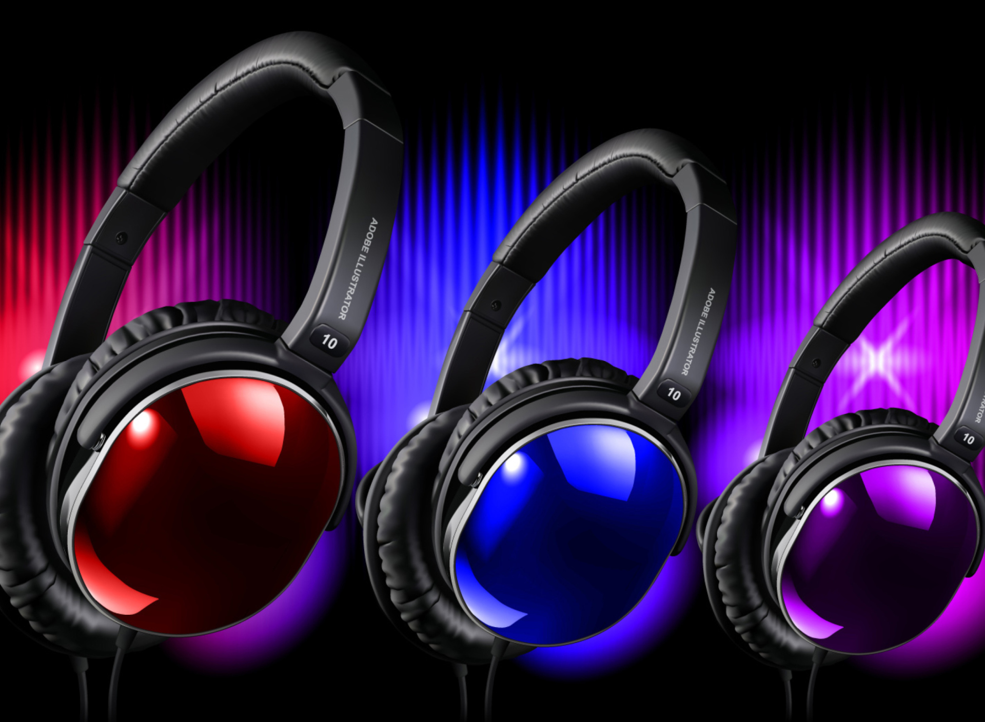 Colorful Headphones wallpaper 1920x1408