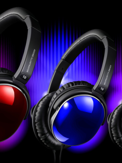 Colorful Headphones wallpaper 240x320