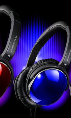Colorful Headphones wallpaper 240x400
