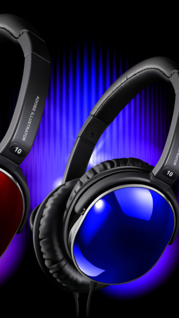 Colorful Headphones wallpaper 360x640