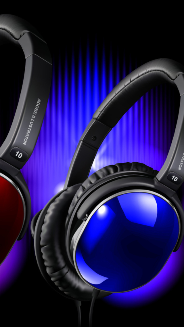 Colorful Headphones wallpaper 640x1136