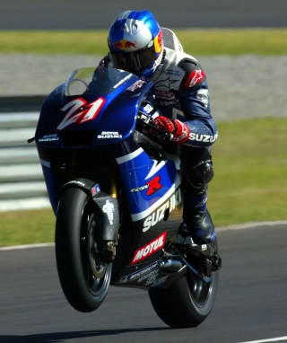 Racing Bike Suzuki Wallpaper for Nokia Asha 308