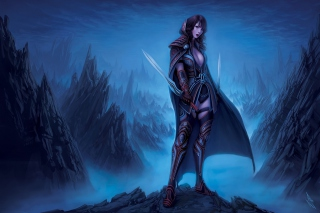 Fantasy Warrior Girl Wallpaper for Android, iPhone and iPad