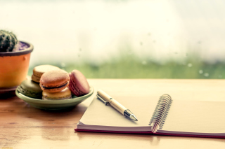 Macaroons and Notebook - Fondos de pantalla gratis