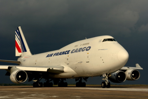 Screenshot №1 pro téma Boeing 747 400 Air France 480x320