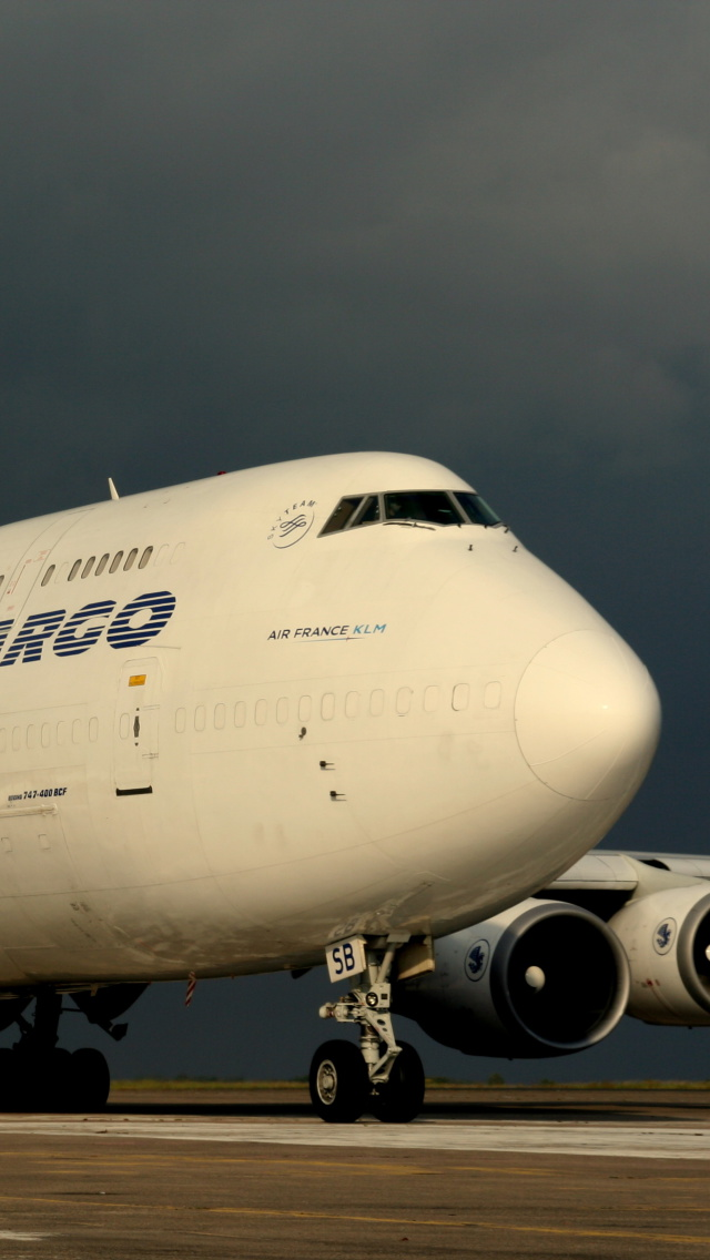 Screenshot №1 pro téma Boeing 747 400 Air France 640x1136