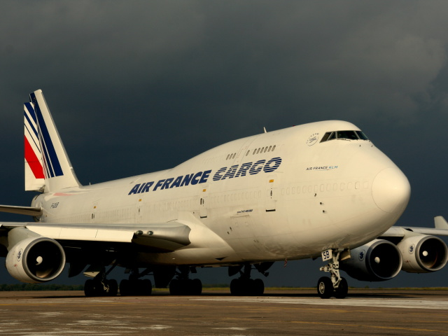 Screenshot №1 pro téma Boeing 747 400 Air France 640x480