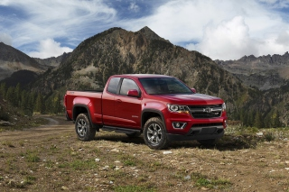 Chevrolet Colorado Pickup 2015 Background for Android, iPhone and iPad
