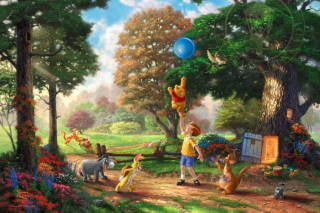 Thomas Kinkade, Winnie-The-Pooh Background for Android, iPhone and iPad
