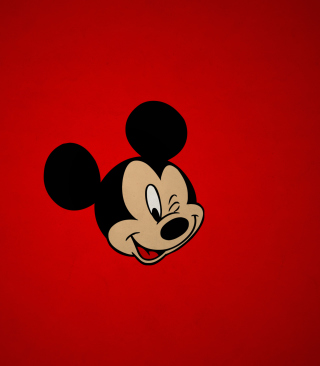 Mickey Winking Wallpaper for 176x220