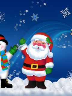 Screenshot №1 pro téma Santa Clause And Snowman 240x320