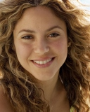 Screenshot №1 pro téma Cute Curly Shakira 128x160