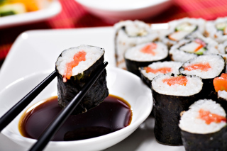Sushi and Chopsticks Wallpaper for Android, iPhone and iPad