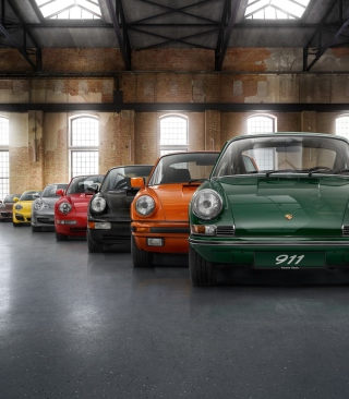 Colorful Porsche 911 sfondi gratuiti per iPhone 6 Plus